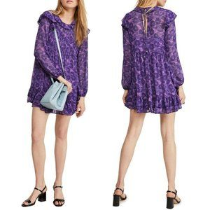 NWT Free People These Dreams Floral Print Dress S